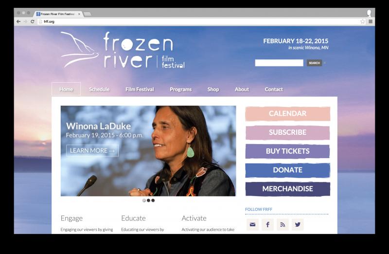 Frozen River Film Festival website design