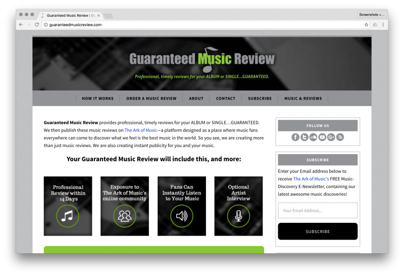 The Ark of Music & Guaranteed Music Review