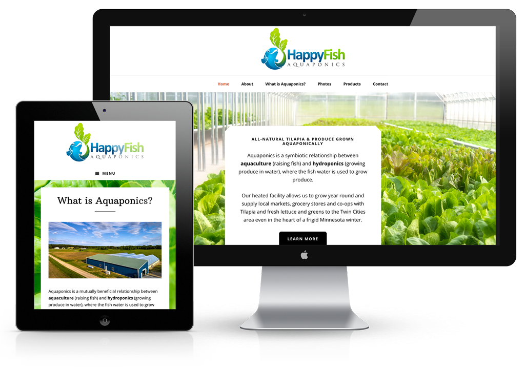Happy Fish Aquaponics website design