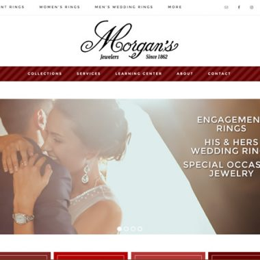 Morgan's Jewelers web design, Winona MN
